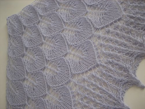 вязание на спицах шали с описанием и схемами