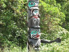A Totem pole in Stanley Park