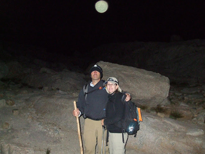Mona & I in moonlight on Mt WHitney