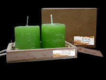 VELAS Cod. 105 con bandeja en madera y caja de carton reciclado