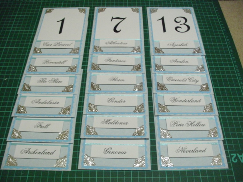 wedding table names : Ako