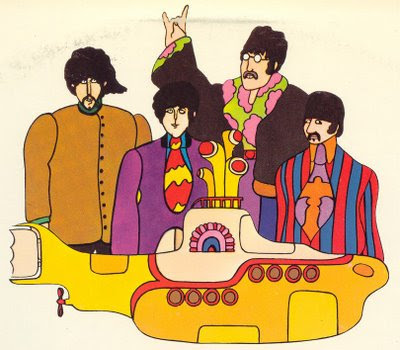 Heinz Edlemann illustration for The Yellow Submarine