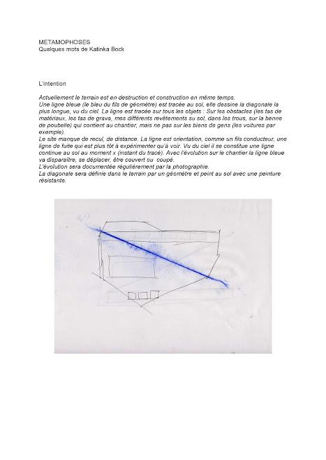 "projet ""ligne bleue"" Katinka Bock"