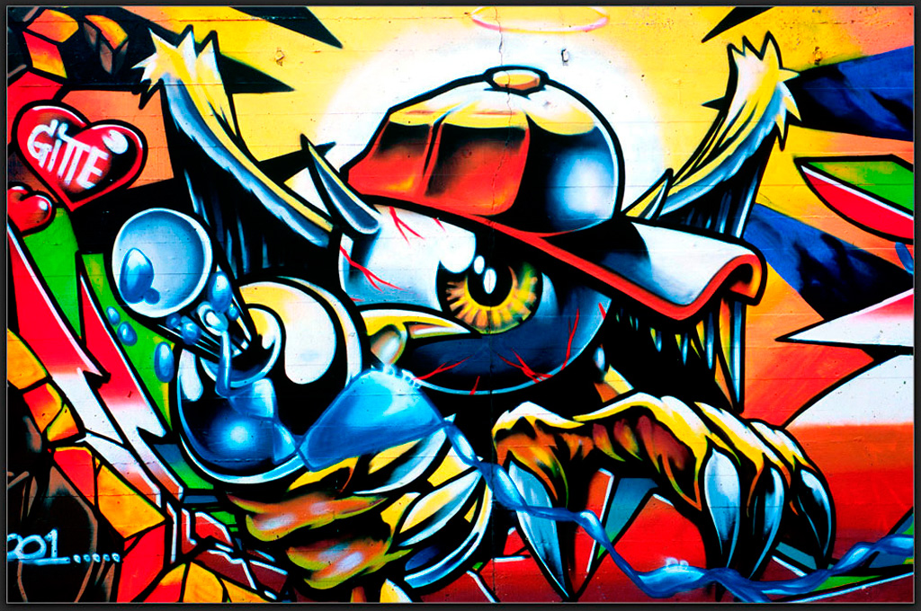 Graffiti art wallpaper the warior