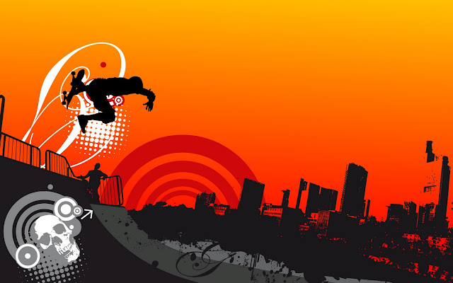 Urban Skyboard Orange Black