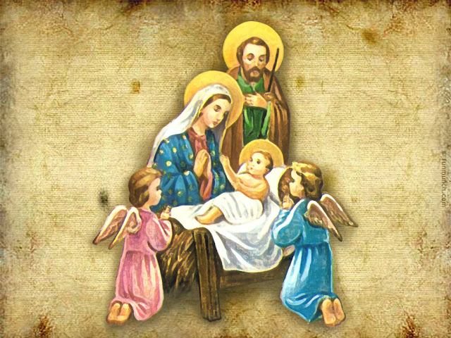 Religious Family christmas wallpaper