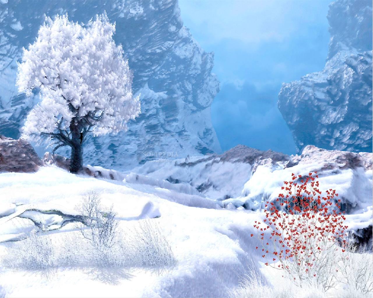 Winter Wallpaper Animated Winter in Mountain Animated Wallpaper Urban Art Wallpaper