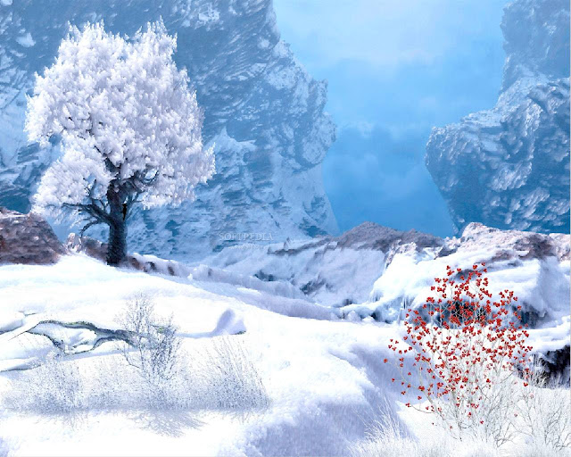 Winter in Mountain Animated Wallpaper