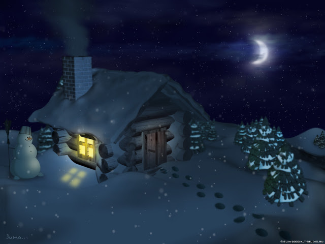 Animation Winter wallpapers warm house