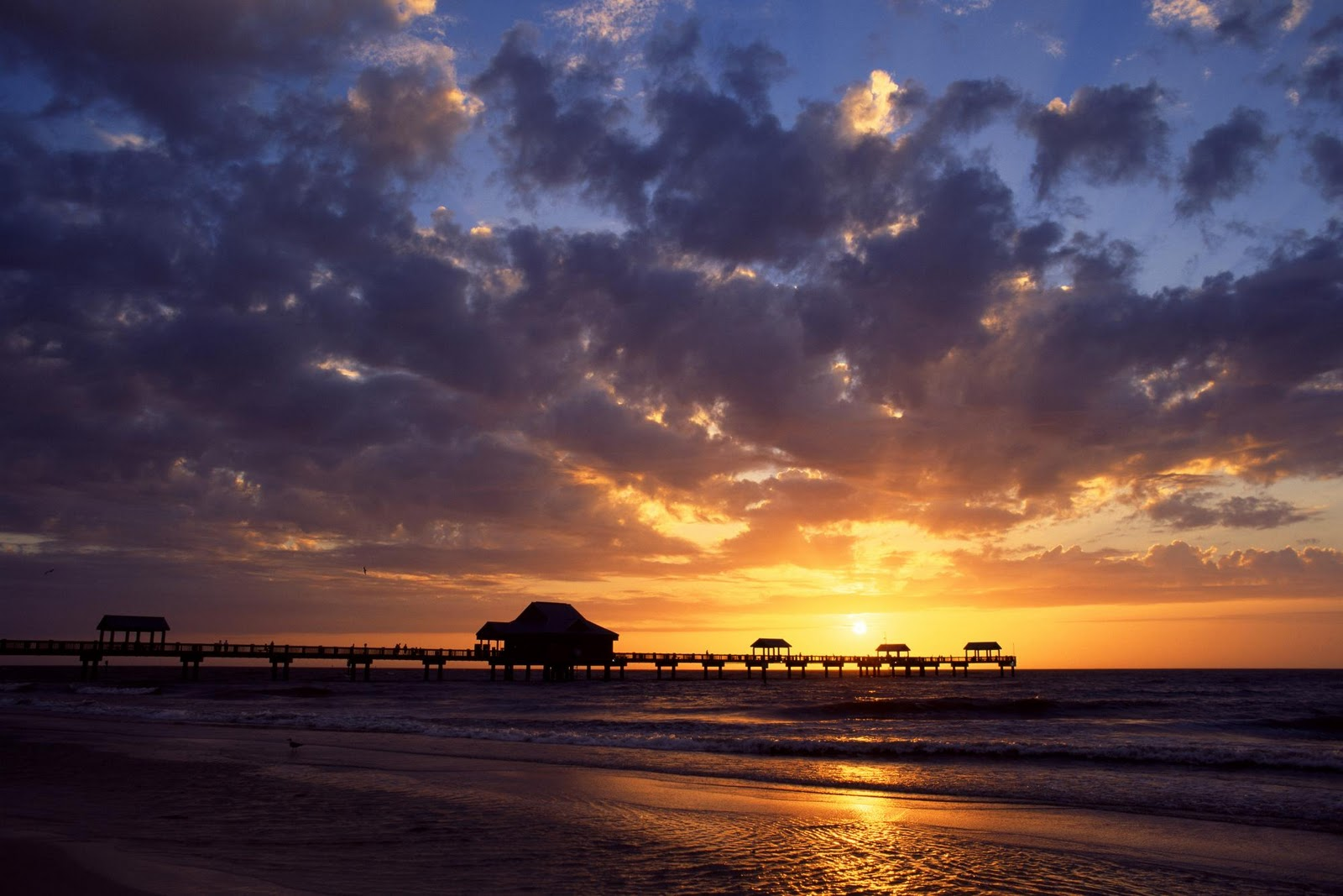 S1600 sunset over the gulf of mexico clearwater nature wallpaper