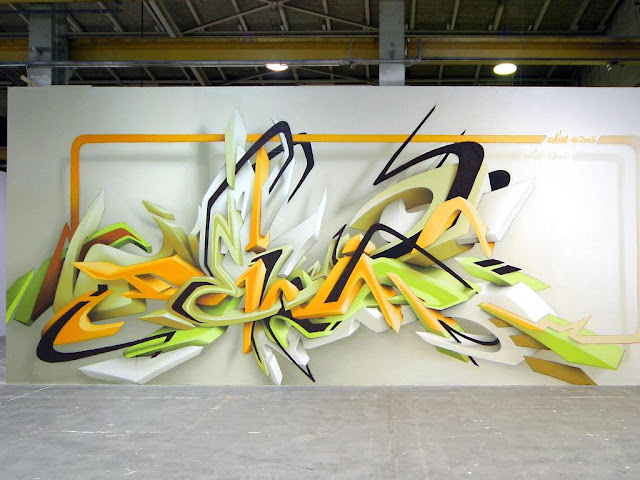 3D graffiti art wall in tehe wall urban wallpaper