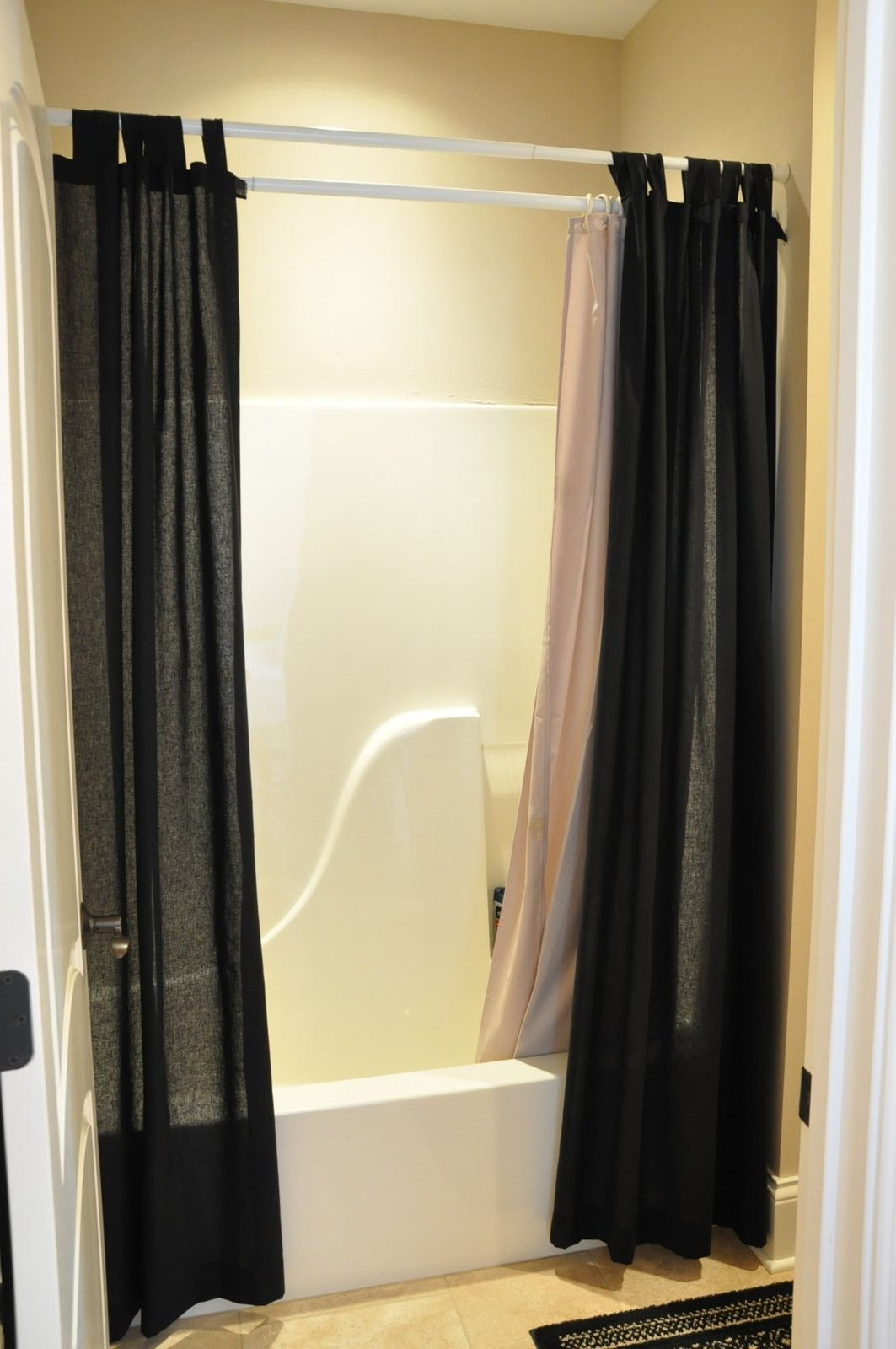 Black bathroom shower curtains - Shower Curtains With Flair