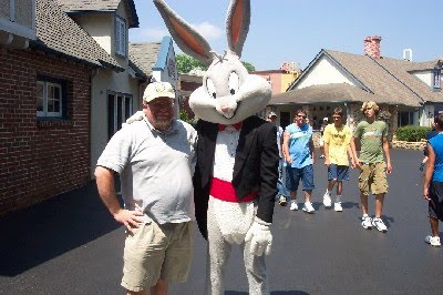 me with Bugs Bunny, Six Flags, Spring 2003