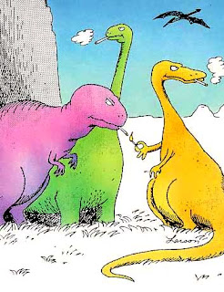 The real reason dinosaurs went extinct, by Gary Larson