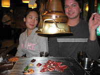 Julie and Andy at galbi restaurant