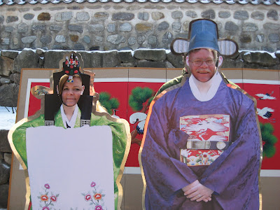 Seoul Seollal Festival, Namsangol Village, posing for photo op