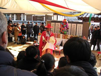 Seoul Seollal Festival, Namsangol Village, Charye ritual