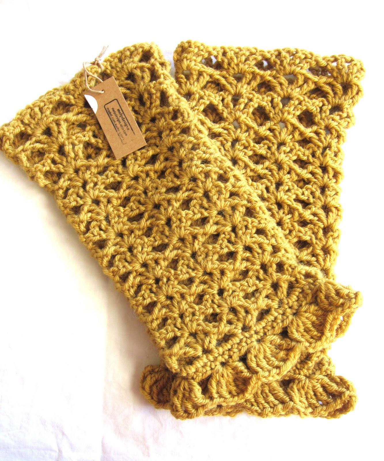 Crochet pattern for leg warmers - Crochet Me