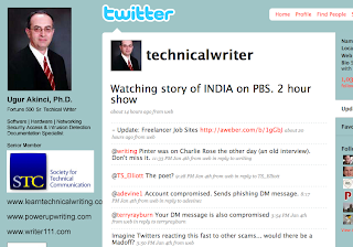 Technical Writing – How to Design a Twitter Background to Market Yourself as a Technical Writer