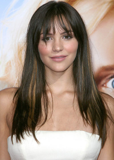 Modern Long Straight Hairstyles Bangs from McPhee 2010
