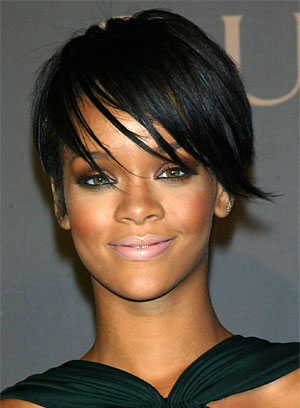 Cute Rihanna Short Layered Crop Haircuts & Hairstyles 2010
