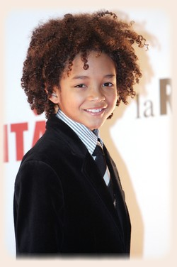 Jaden Smith with afro hair