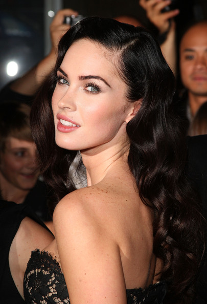 red carpet hairstyles updos. Megan Fox star hit the red