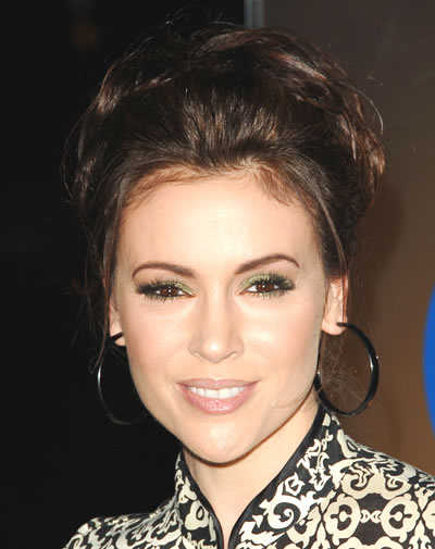 Alyssa Milano Medium Layered Hairstyles