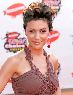 Modern Haircuts from Alyssa Milano - Updo Hairstyle 2011