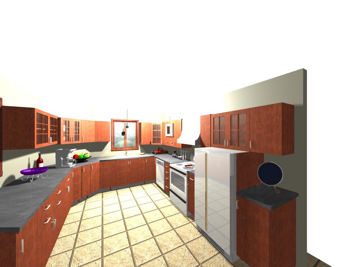 D coration int rieure et talage plan perspective cuisine for Cuisine en perspective