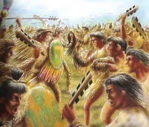 Los guerreros aztecas.