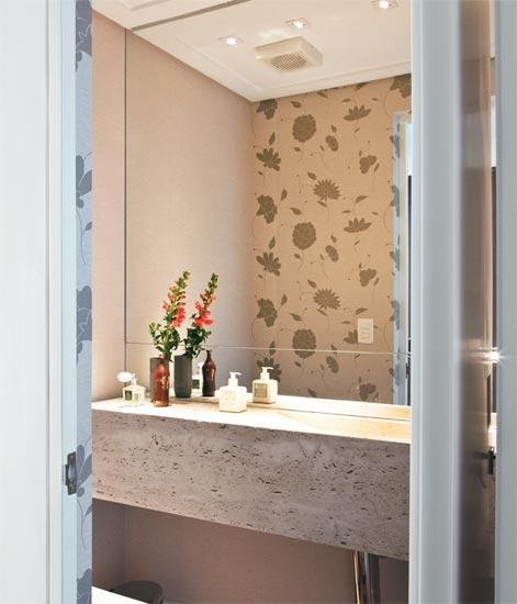 decoracao de lavabos pequenos e simples : decoracao de lavabos pequenos e simples:pranchão e no nicho para velas e sais de banhos