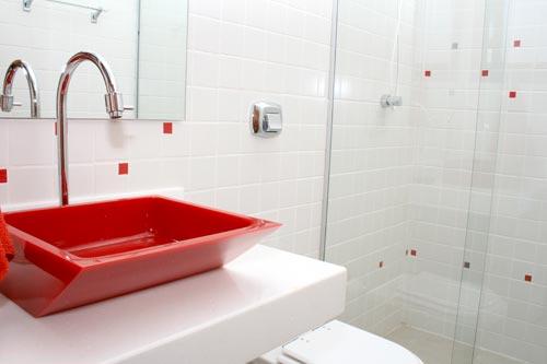 Lorena Cavalcanti Cubas -> Cuba Para Banheiro De Vidro Vermelho