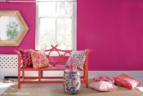 Lorena Cavalcanti Como acertar ao escolher a cor das paredes ~ Quarto Rosa Forte