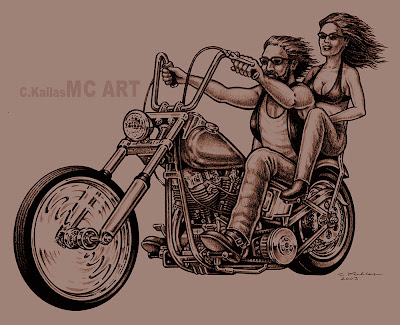 Bike tattoos. I was commissioned to do this art for a tattoo design.