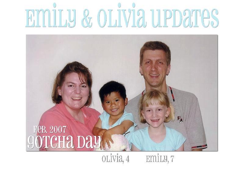 Emily and Olivia Updates