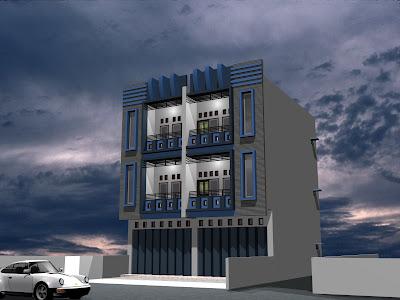 ruko minimalis on disain rumah: RUKO 3 LANTAI MILIK PAK JULING