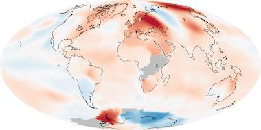 Anomalias da temperatura do planeta