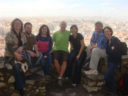 Our team members on a field trip in Lisbon