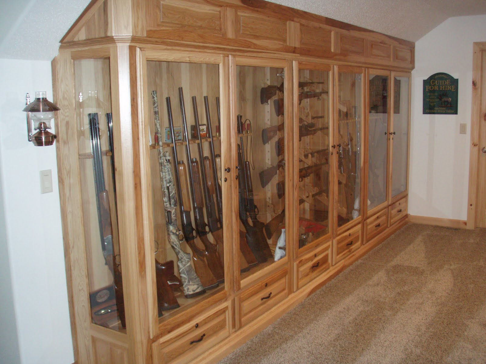BACKER'S WOODWORKING: Hickory Gun Cabinet. Full resolution‎  pic, nominally Width 1600 Height 1200 pixels, pic with #71482E.