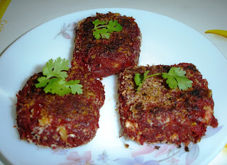 Beet-Carrot Cutlet