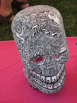 This skull by a different artist was one of the