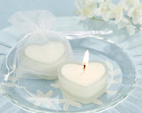 heart shape candle wallpaper