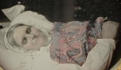 Early Post Mortem Photography: Dead Old Woman