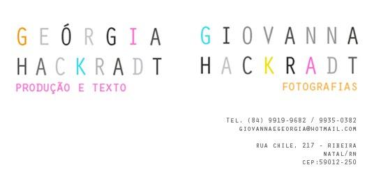 Giovanna Hackradt e Geórgia Hackradt