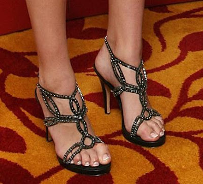 Heidi Klum and Friends - Black Strappy Open Toe High Heels