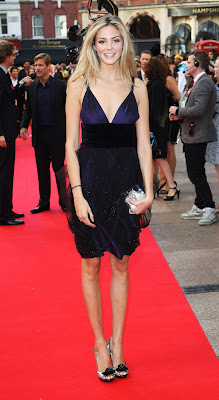Tamsin Egerton Sporting Silver Peeps With Bow