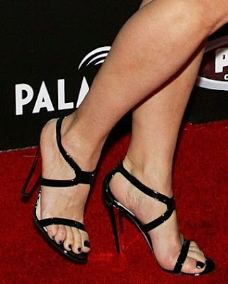 Jennifer Tilly Black Sandals