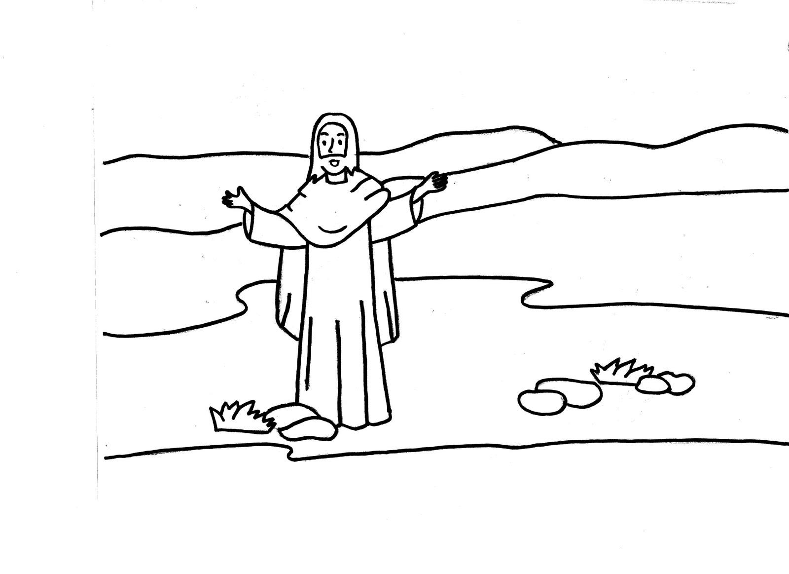 EVEIL A LA FOI CELEBRATIONS: BAPTÊME DE JESUS : DESSINS A COLORIER