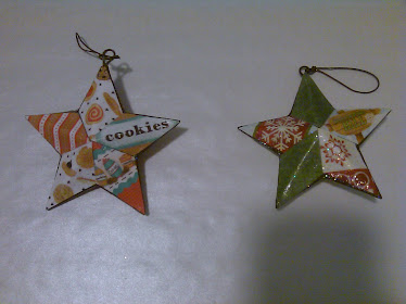 Decopage Star Ornaments